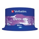 Verbatim 43550 (PLUS+R) Branded 16x Speed 4.7GB DVD+R (50 TUB) - 43550