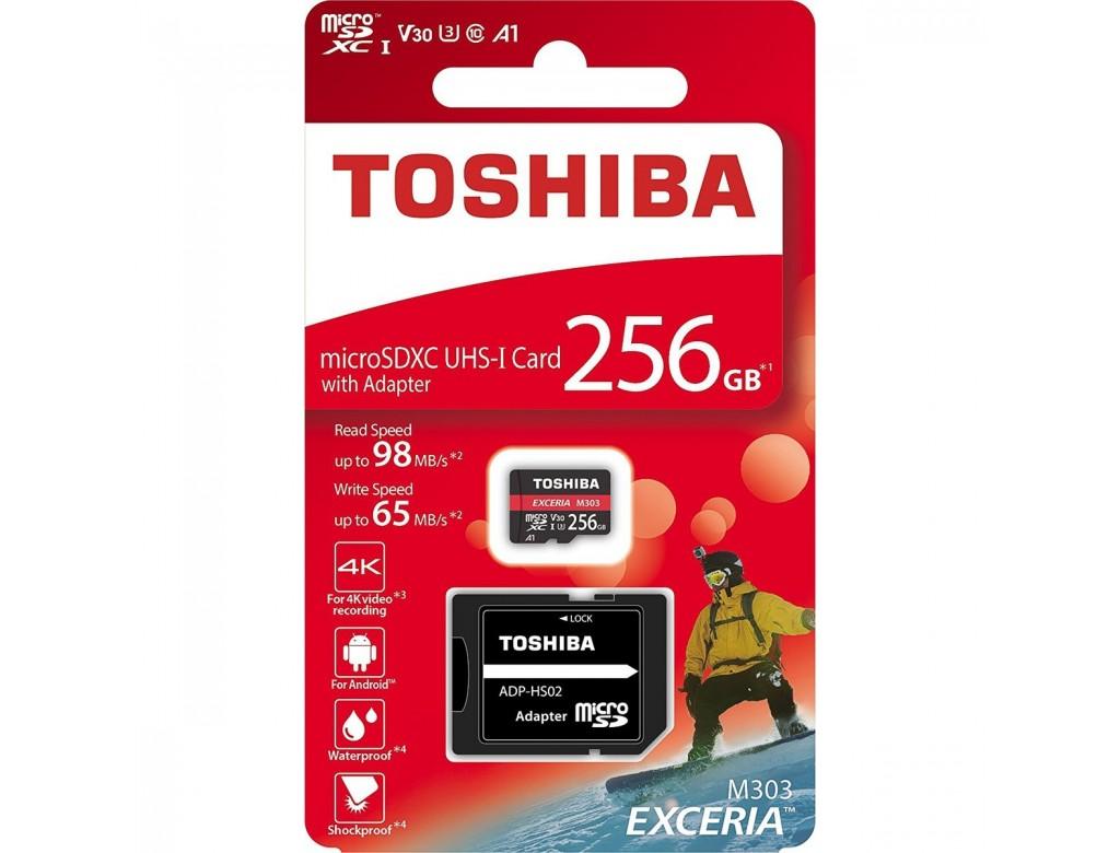 c5e43d5e5 Toshiba Exceria 256GB M303 4K and Full HD 98MBPS Micro SD Class 10