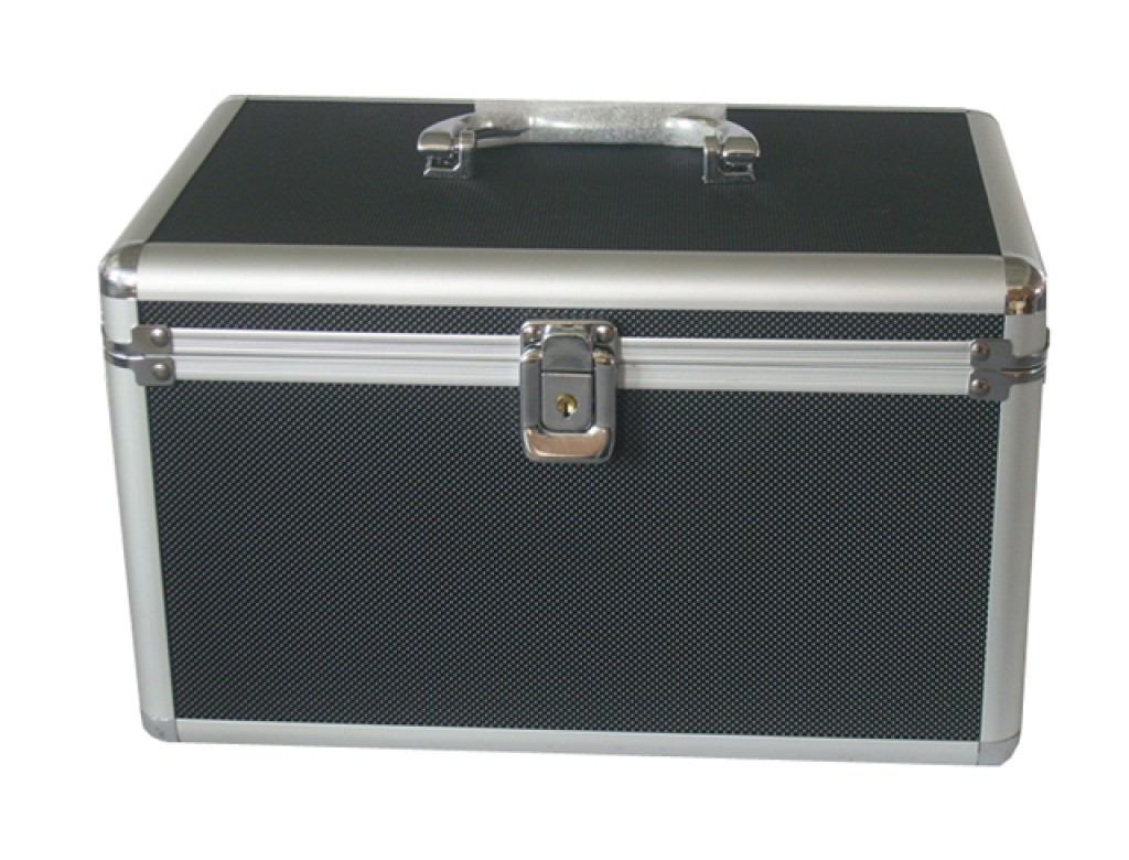 MediaRange 200 Disc Aluminium BLACK DJ Style Case