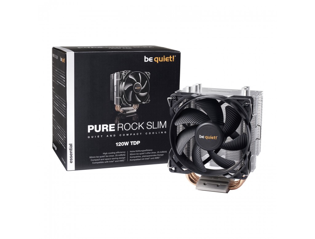 Bk008 Be Quiet Pure Rock Slim Compact Intel Amd Cpu
