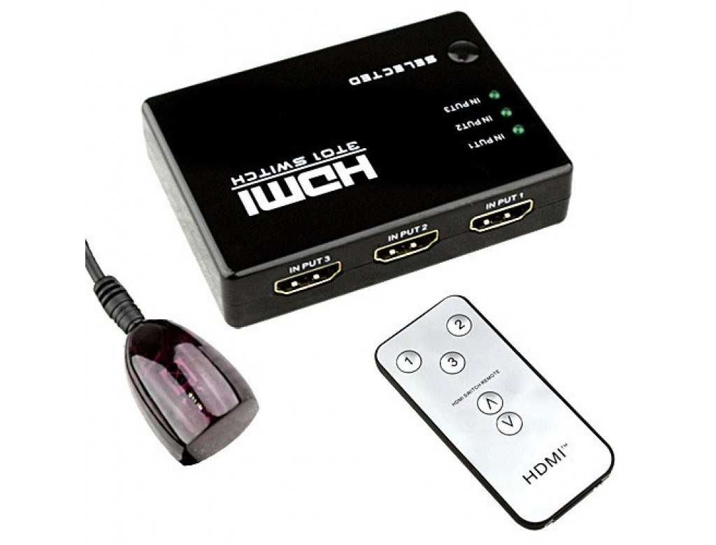 C Hdmi31 Dynamode Lms Data 3 Port Hdmi Switch Box With