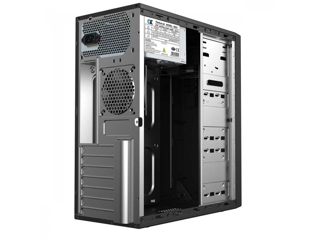 Cit Classic Midi Tower Black Case Atx 500w Psu Cit