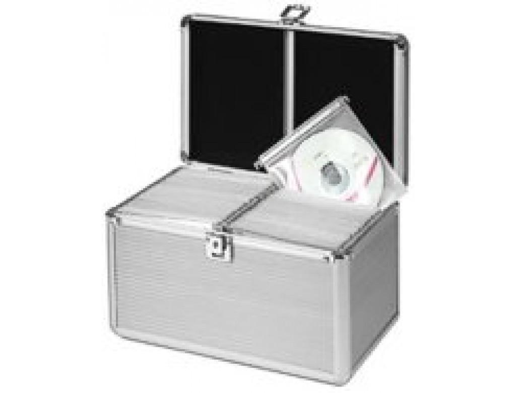 MediaRange BOX75 200 Disc Aluminium CD DVD Silver DJ Style Case