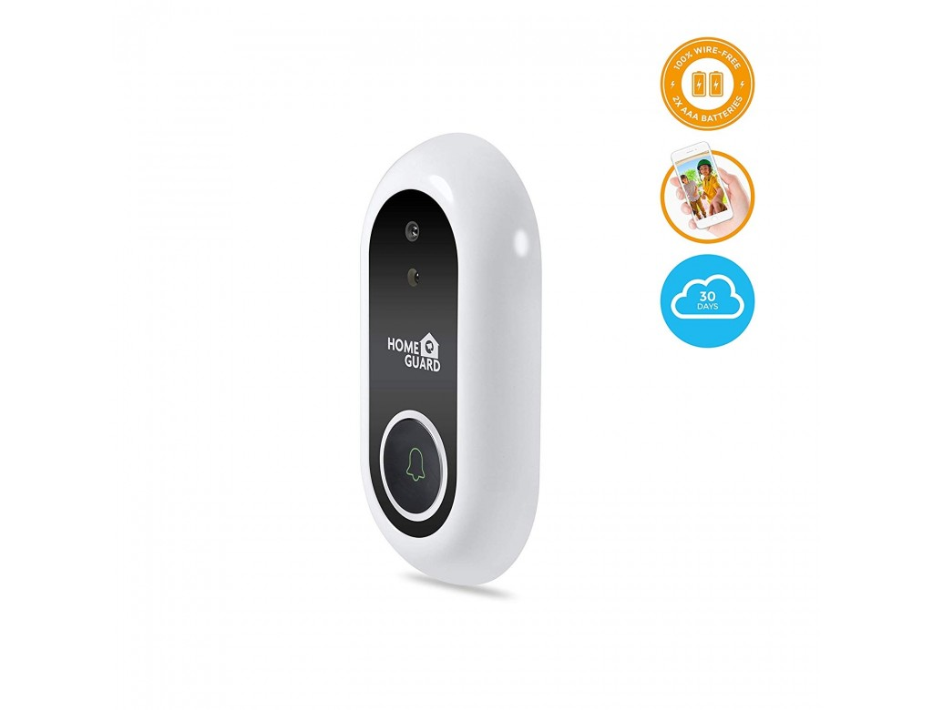 Homeguard Guardianeye Wifi Smart Doorbell Camera With Snap