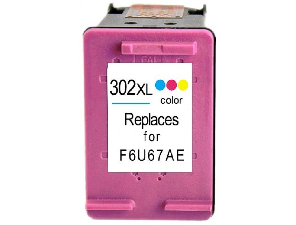 Hp 302xl F6u67ae High Capacity Remanufactured Hewlett Packard 302xl Tri Colour Cartridge