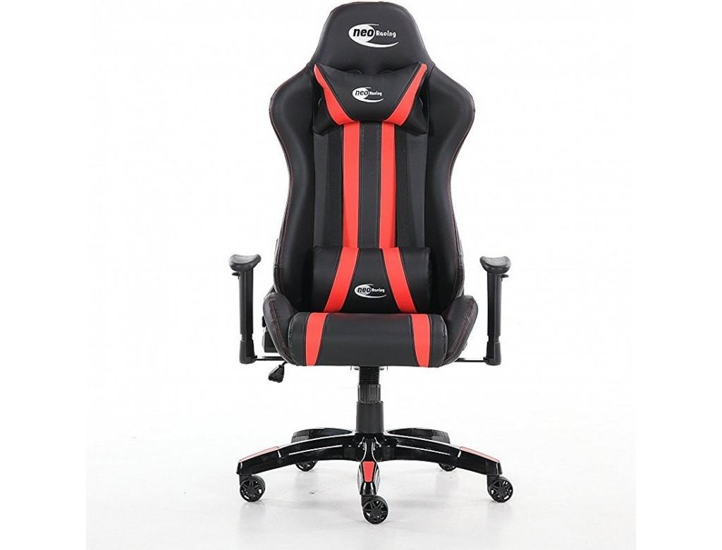 Neo High Back Menacing Racing Gaming Chair Black Red