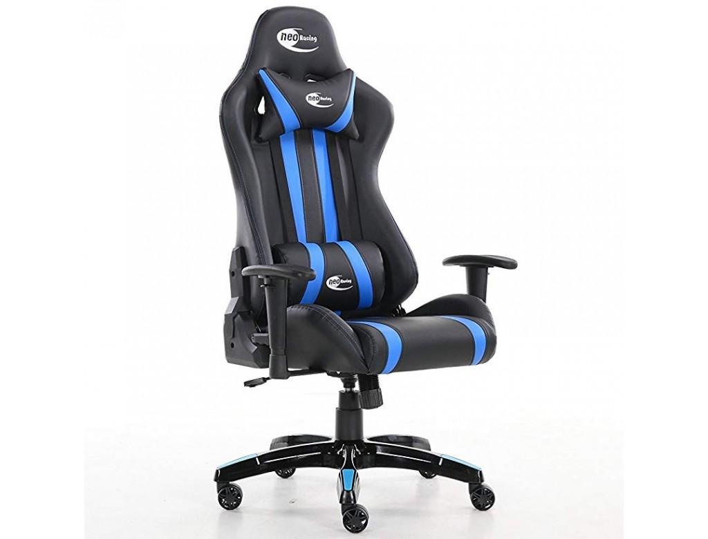 Neo High Back Racing Gaming Chair Black Blue Digitalpromo