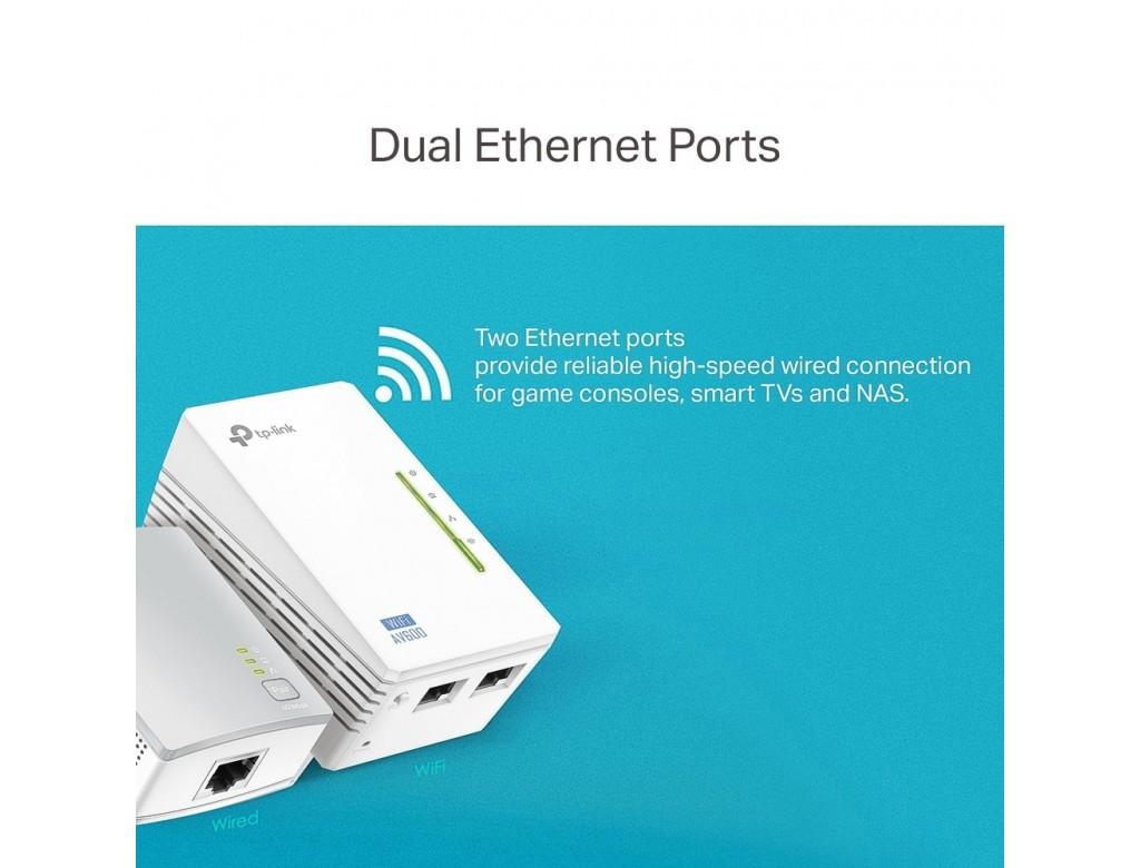 TP-Link TL-WPA4220KIT 300Mbps AV600 Wireless N Powerline Adapter Kit ...