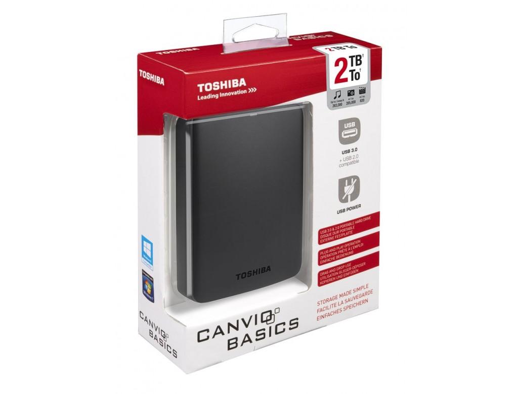 HDTB320EK3CA - Toshiba 2TB Canvio Basics External HDD in ...