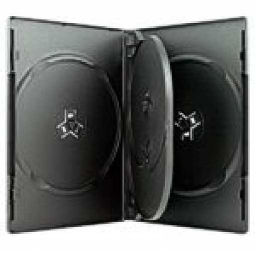 4 WAY DVD Storage Cases - Black - 50 BOX - BOX17