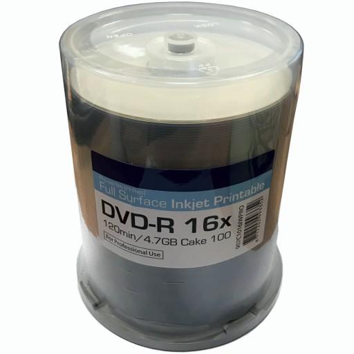 Ritek PRO-Series Hi Res Full Surface White Printable 16x DVD-R in 100 TUB