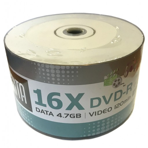 Arita White Full Face Inkjet Printable 16x DVD-R in 50 Pack