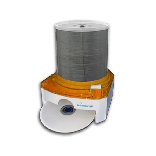 MediaRange (BOX105) 100 DVD/CD Disc Storage / Dispenser (ORANGE) - Retail