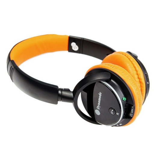 Dynamode DH-01BT-ORG Bluetooth Headphones Ideal for Smartphones and Tablets - ORANGE