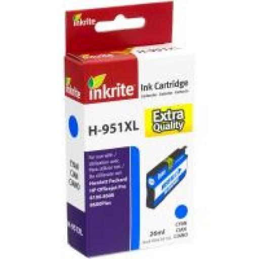 HP 951XL Remanufactured - HP CN046A 951XL - HIGH CAPACITY Compatible Inkjet Cartridge - CYAN