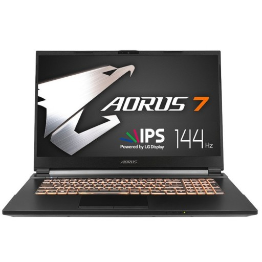 "Gigabyte Aorus 7 Nvidia GTX 1660 Ti, 16GB DDR4, 17.3"" LG 144Hz, Intel i7-10750H (10th Gen), 512 M.2 + 1TB HDD, Win 10 Gaming Laptop"