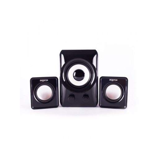 APPROX 2.1 Compact Multimedia Stereo Speakers with Subwoofer, 10W RMS, Black