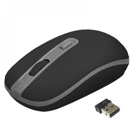 Approx Wireless Full Size Optical USB 1600dpi Mouse - Black / Grey