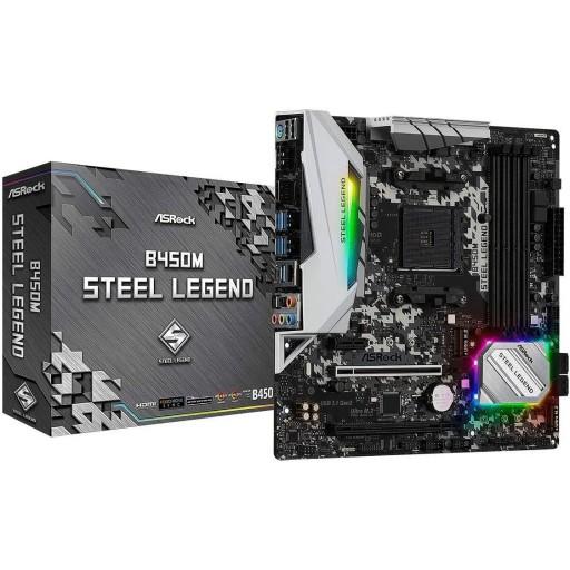ASRock AMD B450M Steel Legend Ryzen AM4 Micro ATX Motherboard