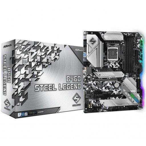 ASRock Intel B460 Steel Legend Intel s1200 ATX Motherboard