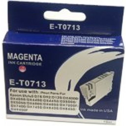 Epson BOXED E-T0 713 Compatible Ink Cartridge (MAGENTA) - S20, SX200, SX400 etc.