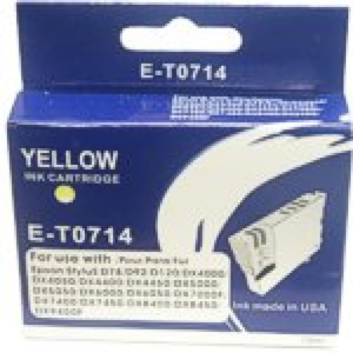 Epson BOXED E-T0 714 Compatible Ink Cartridge (YELLOW) - S20, SX200, SX400 etc.
