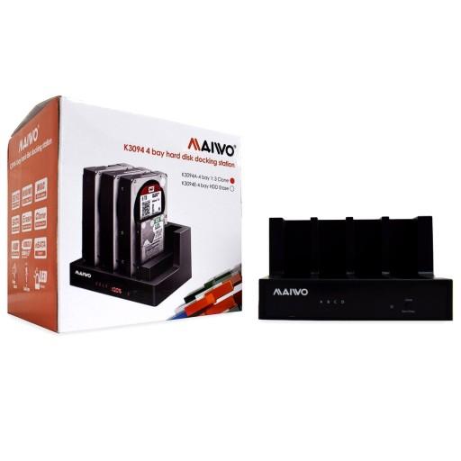 Maiwo Quad-Bay USB 3.0 HDD Docking Station with 1-3 Cloning Facility