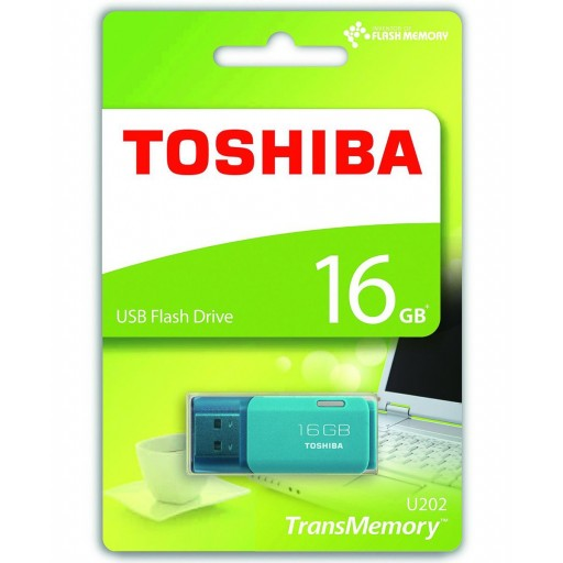 Toshiba 16GB TransMemory U202 USB Flash Drive in Aqua - THN-U202L0160E4