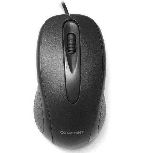Compoint Optical Mouse USB 3-Button Scroll-Wheel Black