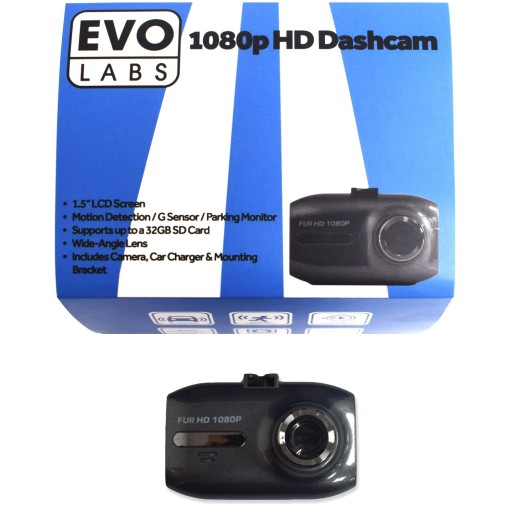 Evo Labs C200 1080p HD Dashcam With Motion Detection - FREE 16GB Memory Card