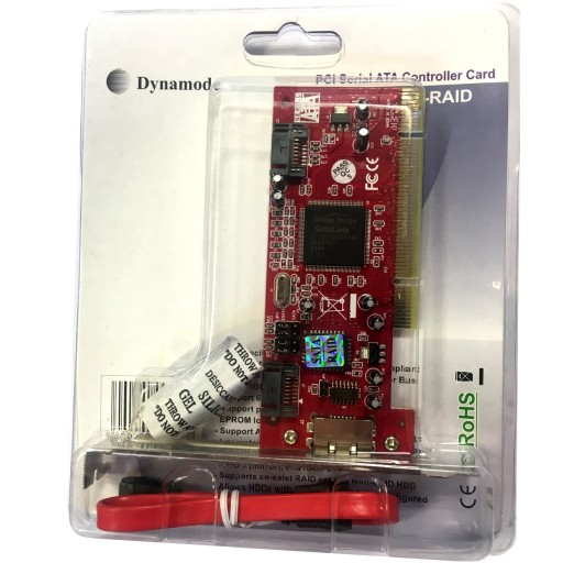 Dynamode High-Performance RAID 3-Port SATA PCI Card
