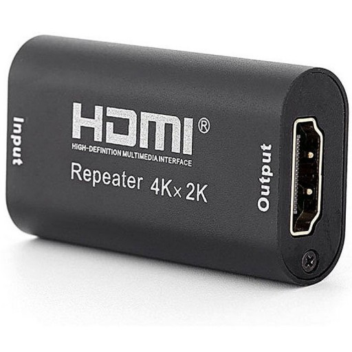 Dynamode LMS DATA 40m HDMI 4K In-Line Self-Powered Repeater - Black