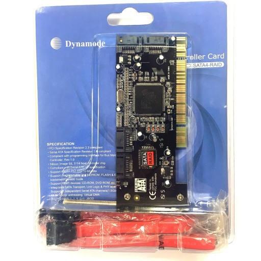 Dynamode High-Performance RAID 4-Port SATA PCI Card