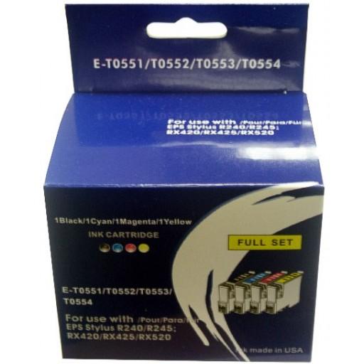 Epson R240, R245, RX420, RX425, RX520 etc. (551-554) - 4 Cartridges