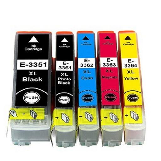 Compatible Epson 33XL - 5 Colour High Capacity Ink Cartridge MULTIPACK / SET - (C13T33574010 - T3357) Orange