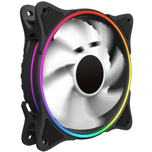 GameMax Mirage White Fins Rainbow RGB 5V Addressable 3pin Header & 3pin M/B