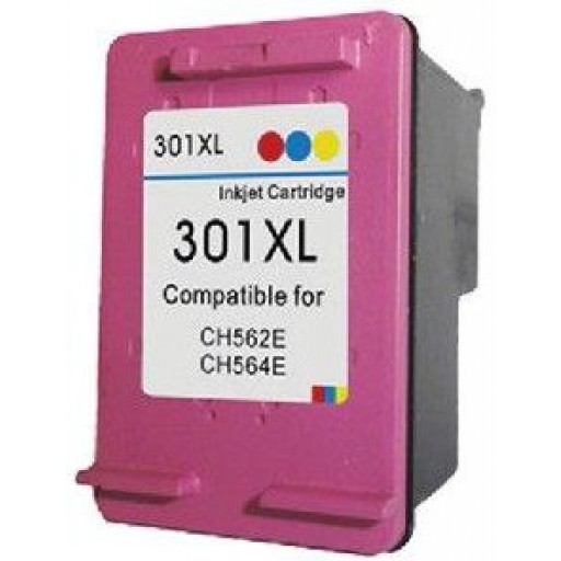 HP 301XL - HP CH564EE - High Capacity Recycled Inkjet Cartridge - COLOUR