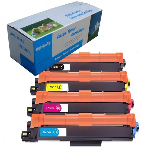 High Capacity Compatible Brother TN247 Black Toner Cartridge - BLACK
