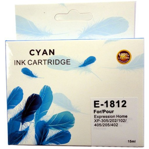 Epson E-1812 CYAN Cartridge Ink for Expression Home XP-102,202,205,305,402,405