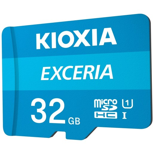Kioxia Exceria 32GB Class 10 UHS-I Shock Proof MicroSD Card With SD Adapter