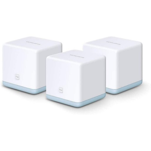 Mercusys HALO S12 Whole Home Mesh Network Wi-Fi System, 3 Pack, Dual Band AC1200, 2 x LAN on Each Unit