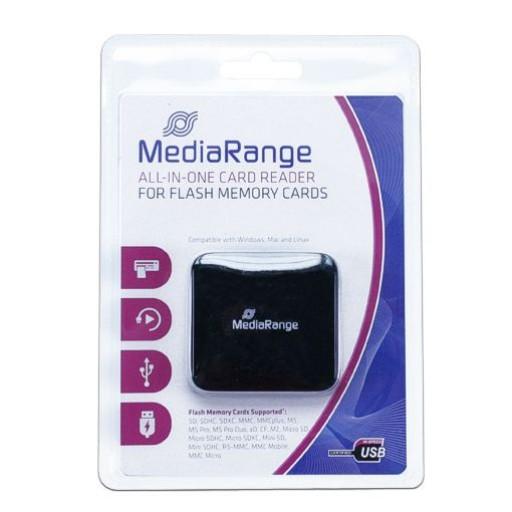 MediaRange USB 2.0 All-in-One Flash Card Reader - MRCS501