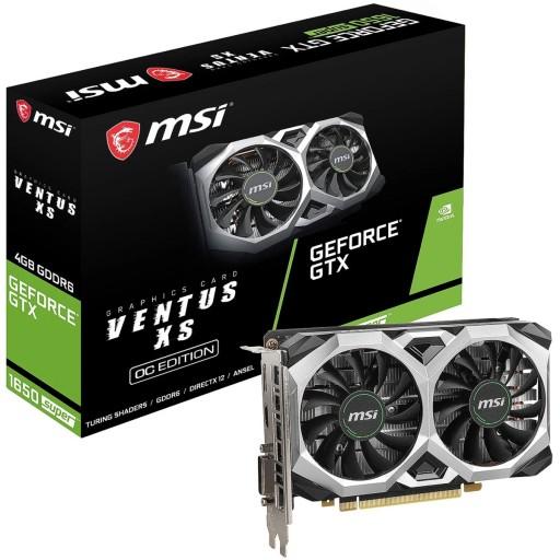 MSI NVIDIA GeForce GTX 1650 SUPER 4GB VENTUS XS OC Turing Graphics Card