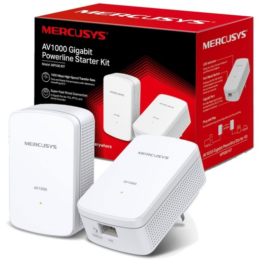 Mercusys MP500 KIT AV1000 Gigabit Powerline Network Starter Kit