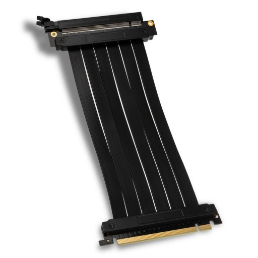 Kolink PCI-E 3.0 16x Riser Cable 180 Degrees for GPU Vertical Orientation - 200mm Black