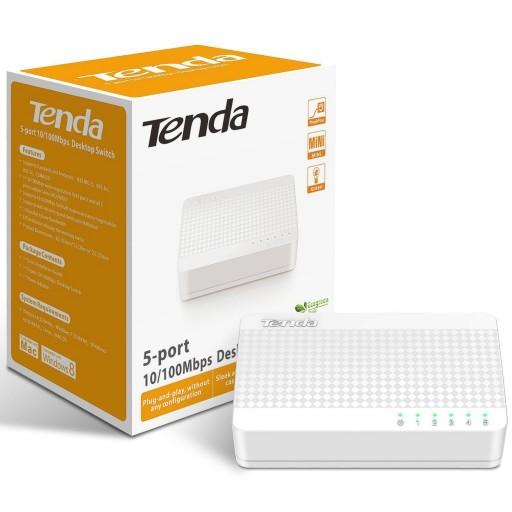 Tenda S105 v10 5-port Unmanaged Desktop Mini Switch 10/100 RJ45 Ports