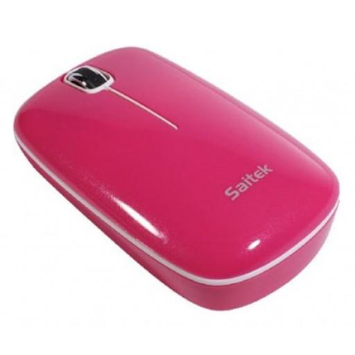 Saitek 3 Button USB Wired Optical Flexi Mouse (Pink)