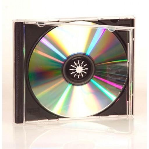 SINGLE CD/DVD Jewel Case (BLACK INSERT) - 25 PACK