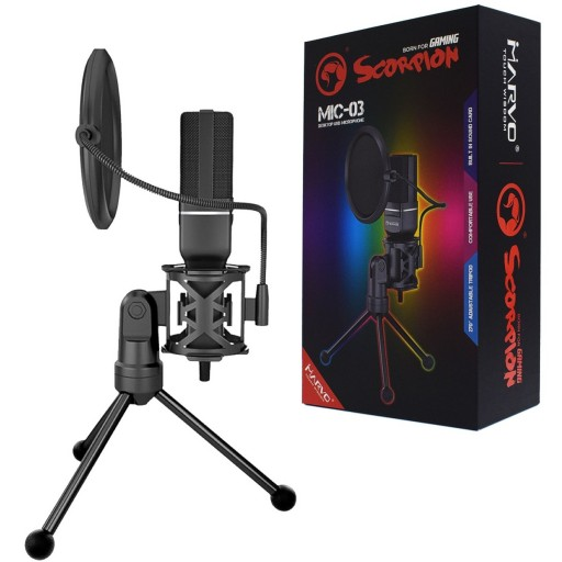 Marvo Scorpion MIC-03 Gaming and Streaming Omnidirectional Microphone