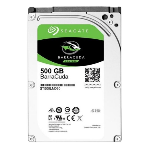 Seagate 500GB BarraCuda ST500LM030 Internal Thin 7mm 2.5inch Hard Drive / HDD